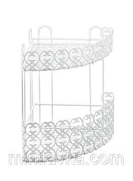 Полку Metaltex Florenz кутова 2 секції 25х25х31 см біле пластикове покриття (423702)