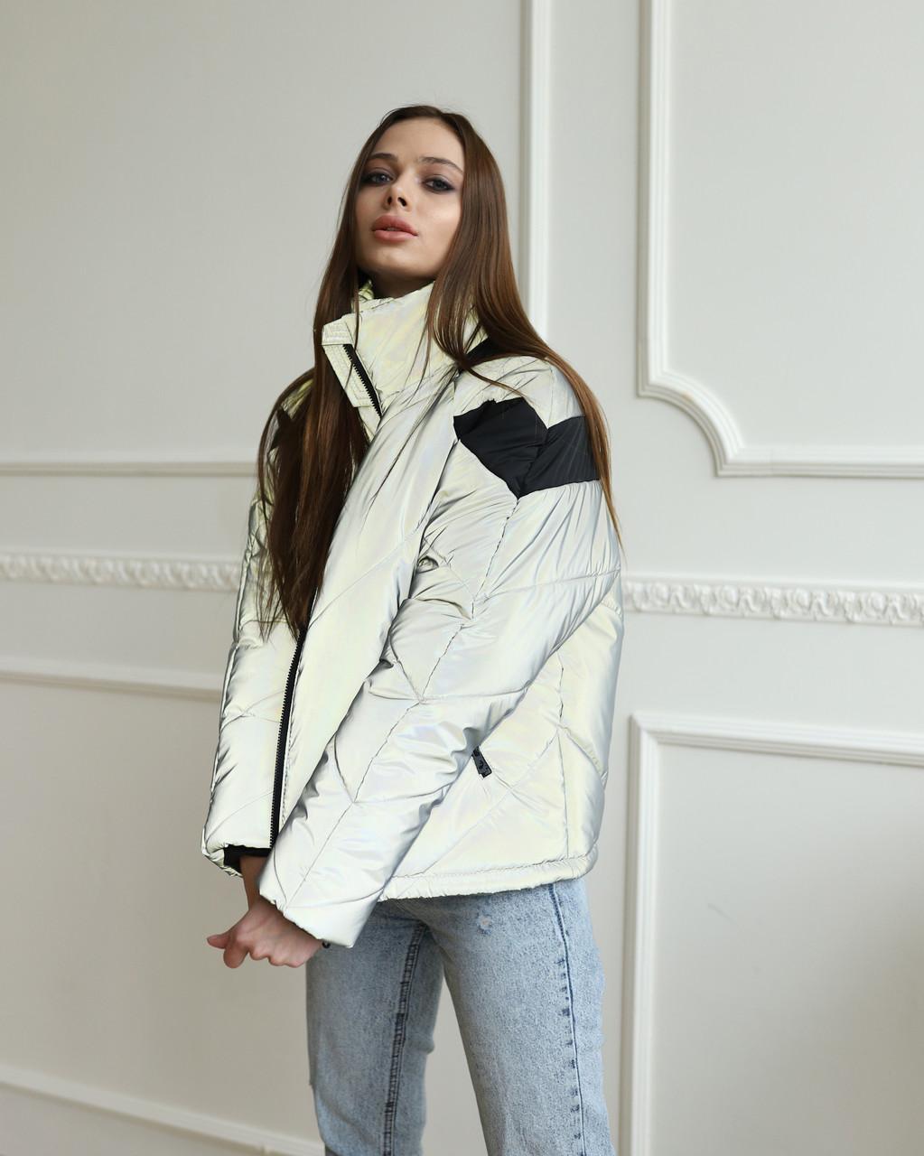 Куртка женская оверсайз рефлективная от бренда ТУР модель Кейт