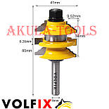 Комбінована рамкова фреза VOLFIX FZ-120-992 d8 для меблевої обв'язки, фото 6