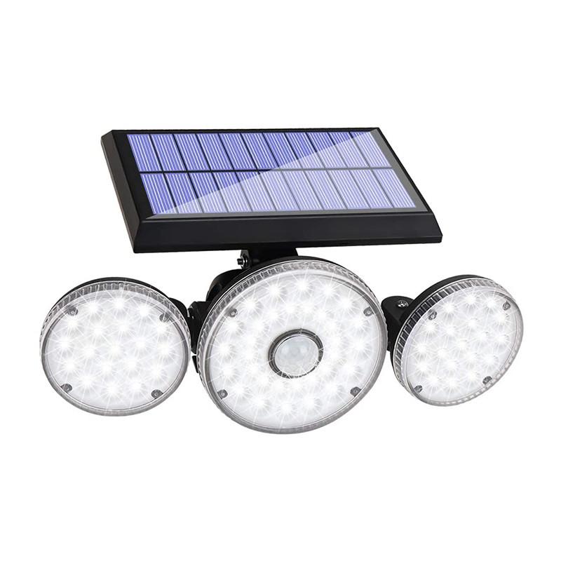 Уличный настенный светильник Lesko TG-TY051-04 на солнечной батарее с датчиком движения