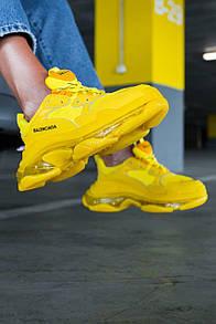 Мужские кроссовки Balenciaga Triple S clear sole Yellow