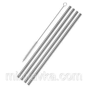 Трубочки WESTMARK для бару 4 шт + щітка (W62722260)