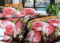 Двоспальне постільна білизна - рожева поляна