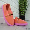 """Мокасини жіночі пудрові """"Werytu"""" текстильні кросівки жіночі кеди жіночі повсякденне взуття, фото 7"""