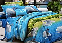 Двоспальне постільна білизна - Лебеді