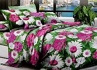 Двоспальне постільна білизна ромашки