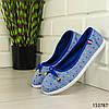 """Балетки жіночі блакитні """"Jastude"""" текстильні туфлі жіночі мокасини жіночі жіноче взуття, фото 4"""