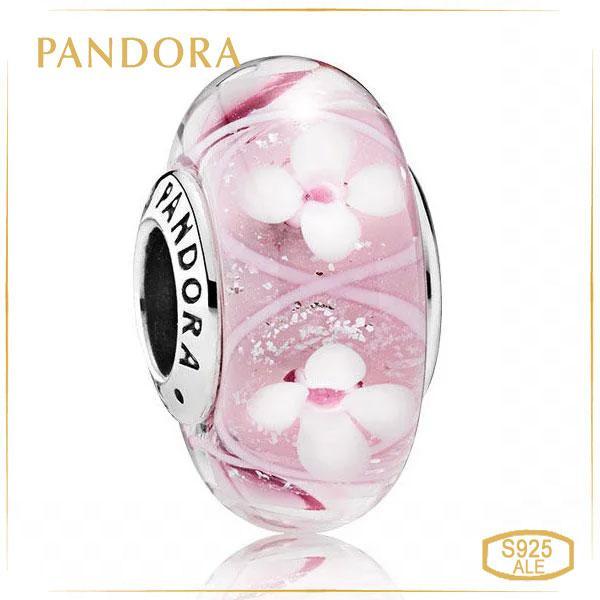 Пандора Шарм Мурано Поле розовых цветов Pandora 791665
