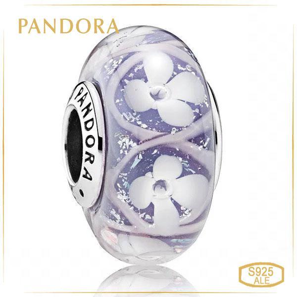 Пандора Шарм Мурано Поле фиолетовых цветов Pandora 791667