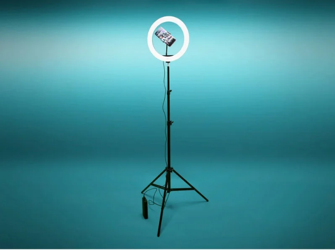 Кольцевая лампа 30 см со штативом 2 м для селфи Светодиодная кольцевая лампа