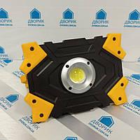 Прожектор акумуляторний LED 10W COB 930Lm 6500K IP44 жовто-чорний/ LMP85, фото 1