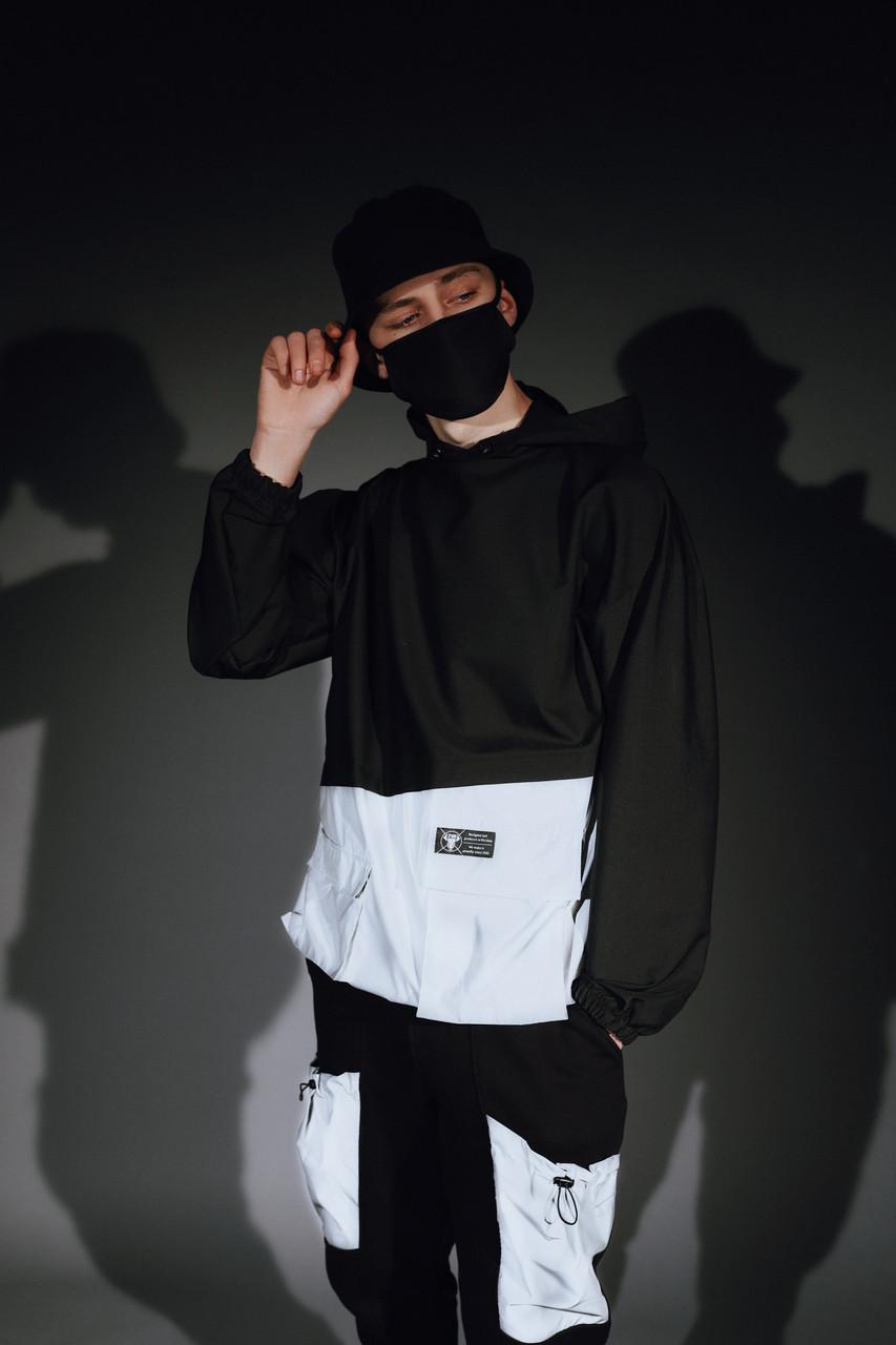 Анорак мужской черный с рефлективными вставками от бренда ТУР Мавадо