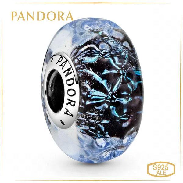 Шарм Пандора волнистый темно-синий Океан Pandora 798938C00