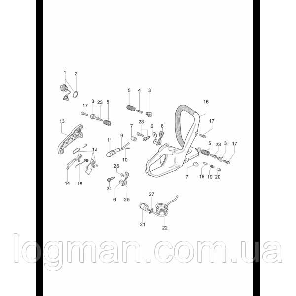 Гвинт EMAK амортизатора бензопили OM 947, 951, 952, EF 147, 151,152