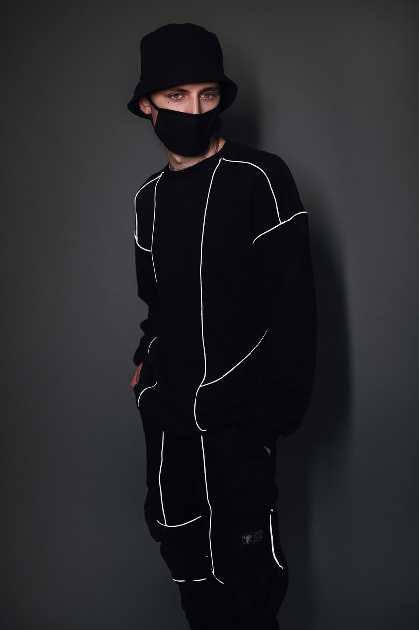 Свитшот мужской черный от бренда ТУР Рейден размер S, M, L, XL