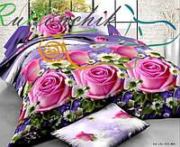 3D Постільна білизна двоспальне Sofia - Троянди