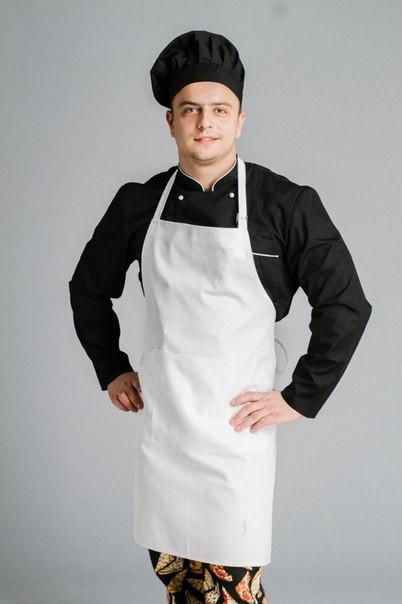 Фартук поварской/официантский с нагрудником