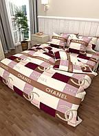 Постільна білизна двоспальне Sofia з логотипом бренду