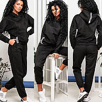 Женский спортивный замшевый костюм 902 (42-44; 46-48) (цвета: черный, бежевый, хаки, пудра) СП, фото 1