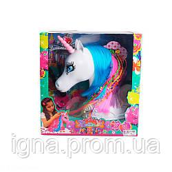 Кінь 68153 (18шт) єдиноріг,27см, голова для зачісок, діадема, заколочки, в кор-ке, 30,5-32-14см