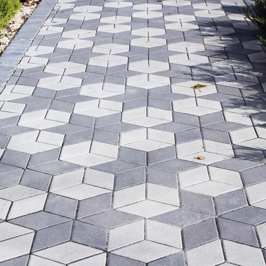Тротуарная плитка Ромб Золотой мандарин Серый
