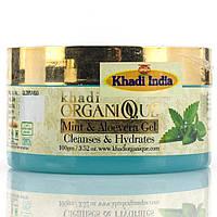 Гель для  лица с ментолом и алое вера / Face gel with Mint and Aloe vera, Khadi / 100 гр