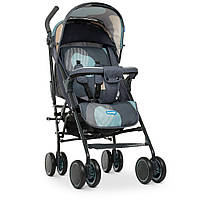 Візок дитячий M 4244 Gray Blue прогулянковий, тростина, кошик, сіро-блакитний.