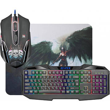 Набір ігровий Defender Reaper MKP-018 RU клавіатура+мишка+килимок №52018