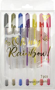 "Набір ручок гел. ""Yes"" №420368 Oh My Rainbow! 7кольор. неон(10)(100)"