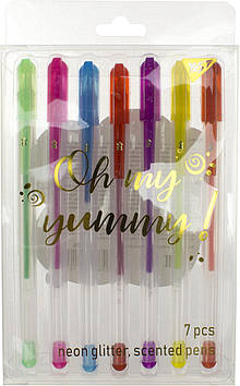 "Набір ручок гел. ""Yes"" №420370 Oh My Yummy! 7кольор. неон/глітер з запахом(10)(100)"