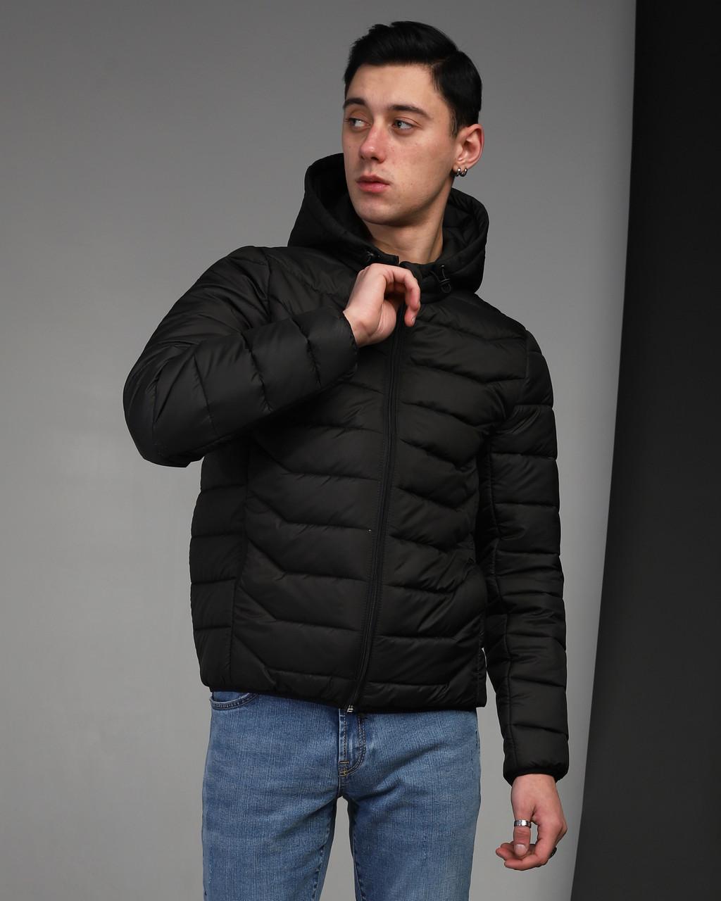 Весенняя куртка мужская черная бренд ТУР модель Джеймс