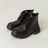 Ботинки со шнуровкой Kelly Corso натуральная кожа черные на черной подошве