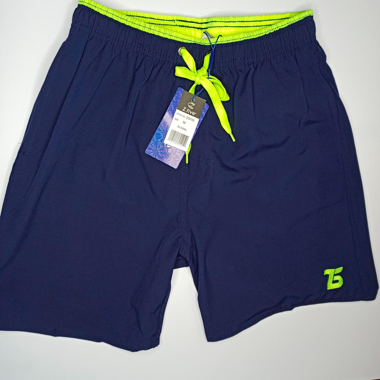 Мужские шорты Z.Five 3745 синие с салатовым 44 46 48 50 52 размер