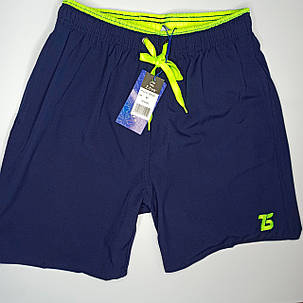 Мужские шорты Z.Five 3745 синие с салатовым 44 46 48 50 52 размер, фото 2