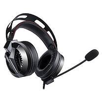 Ігрові навушники COMBATWING M180 чорні з мікрофоном і LED підсвічуванням, геймерські, ігрові навушники, фото 2