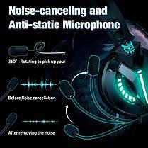 Ігрові навушники COMBATWING M180 чорні з мікрофоном і LED підсвічуванням, геймерські, ігрові навушники, фото 3