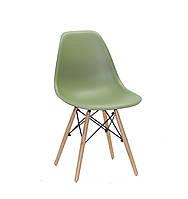 Дизайнерський стілець Nik N зелений 31 на букових дерев'яних ніжках