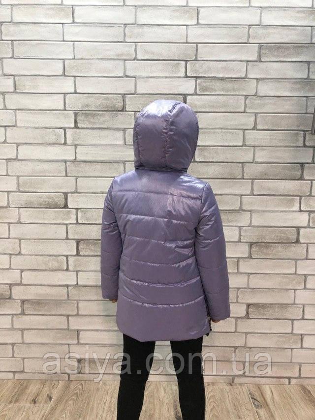 Весенняя куртка на девочку лавандового цвета Джуди