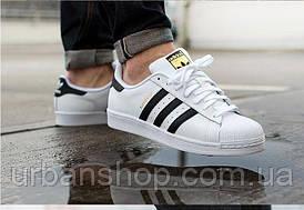 Кросівки Adidas SUPERSTAR white/black (нат.шкіра) розміри: -44