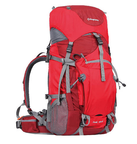 Треккинговый удобный  рюкзак 45+5 л. KingCamp Peak (KB3250) Red красный