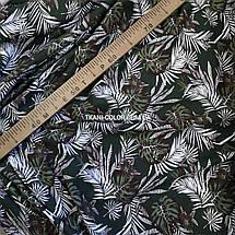 Футер двунитка принт Tropic хаки, Турция 180см, фото 3