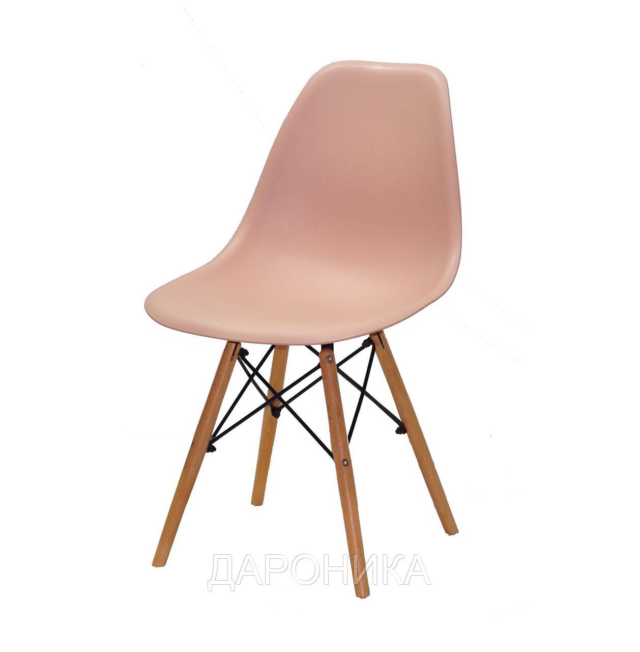 Стул дизайнерский Nik N  розовый 65 на деревянных буковых ножках