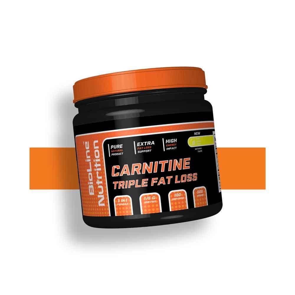 Карнитин тартрат витамин B6 для рельефа BioLine Nutrition Германия | 500 г | 100 порций