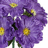 Искусственные цветы букет крупной атласной примулы, 19см, фото 2
