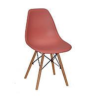 Дизайнерський стілець Nik N ліловий 60 на букових дерев'яних ніжках