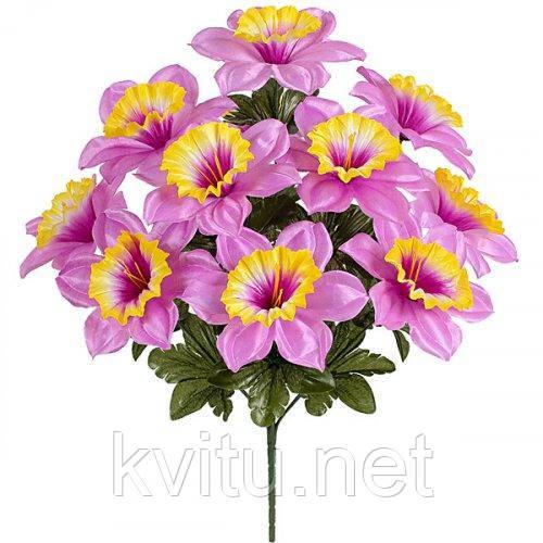 Искусственные цветы букет нарцисс Атлас, 48см