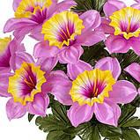 Искусственные цветы букет нарцисс Атлас, 48см, фото 2