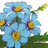 Искусственные цветы букет лютики бордюрные, 21см, фото 2