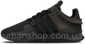 Чоловічі кросівки AD EQT Support ADV Triple Black, А-д . ТОП Репліка ААА класу.