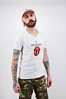Футболка Moncler біла L